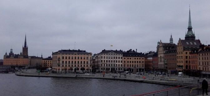 Los colores de Estocolmo cambian cuando el día amanece gris