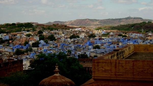 Detalle de los colores de las ciudades como Jodhpur