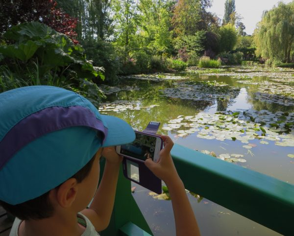 Ferran disfrutó mucho de los jardines de Monet (Giverny, Francia 2016)