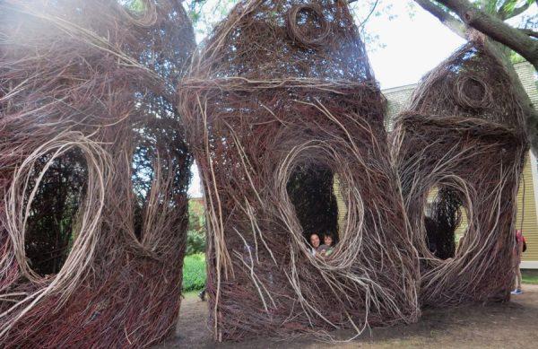 Esculturas de Patrick Doughtery (Salem, 2015)