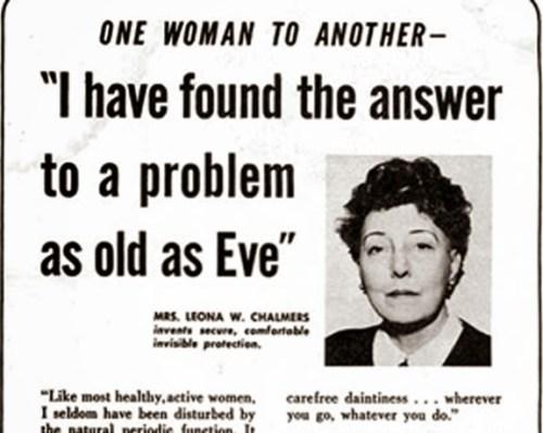 Leona W. Chambers patentó la primera copa menstrual