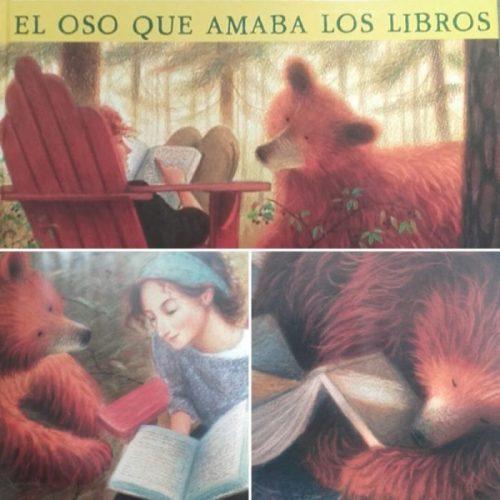 oso amaba libros biblioteca
