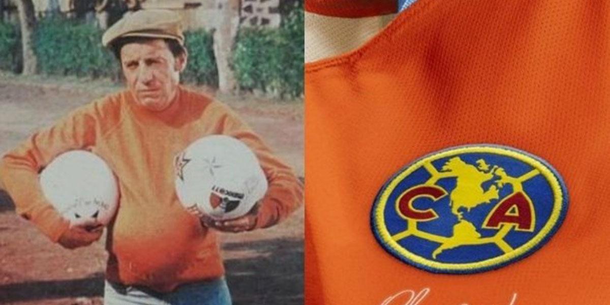 América do México divulga camisa com homenagem a Roberto Bolaños