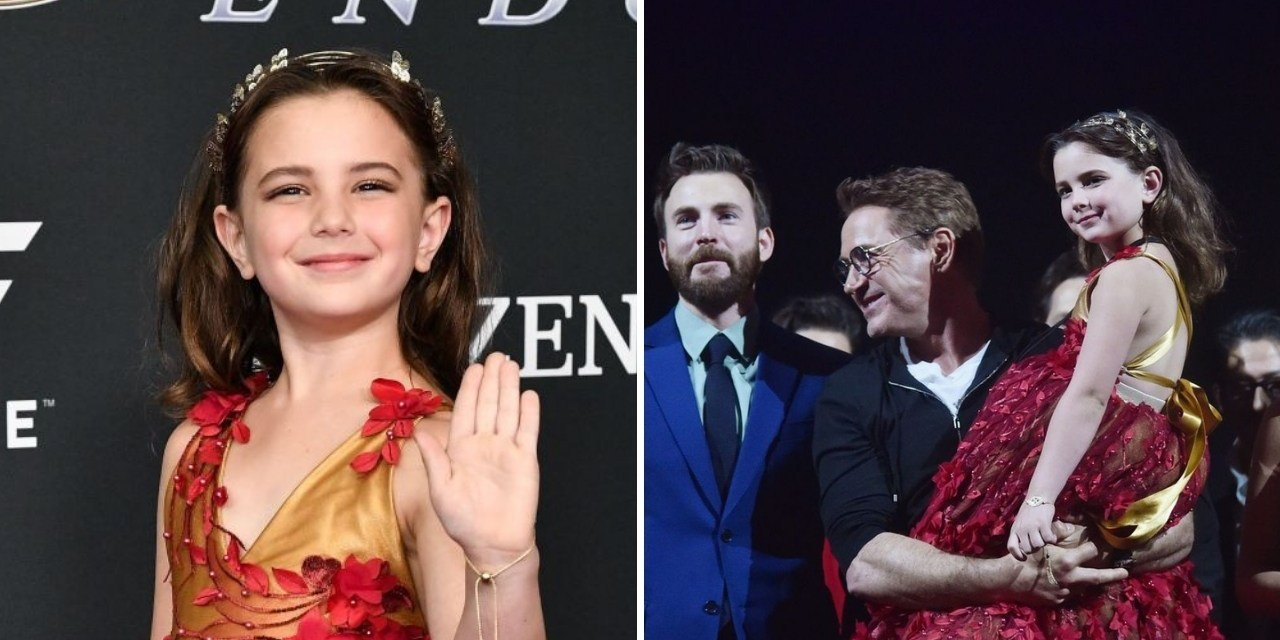 Filha de Tony Stark vestida de heroína da Marvel é a coisa mais fofa que você verá hoje