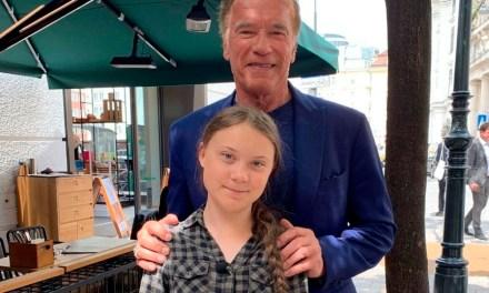 "Arnold Schwarzenegger tem encontro com ativista Greta Thunberg: ""Heroína"""