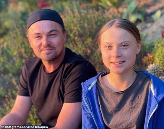 """Leonardo DiCaprio se encontra com Greta Thunberg: """"foi uma honra"""""""