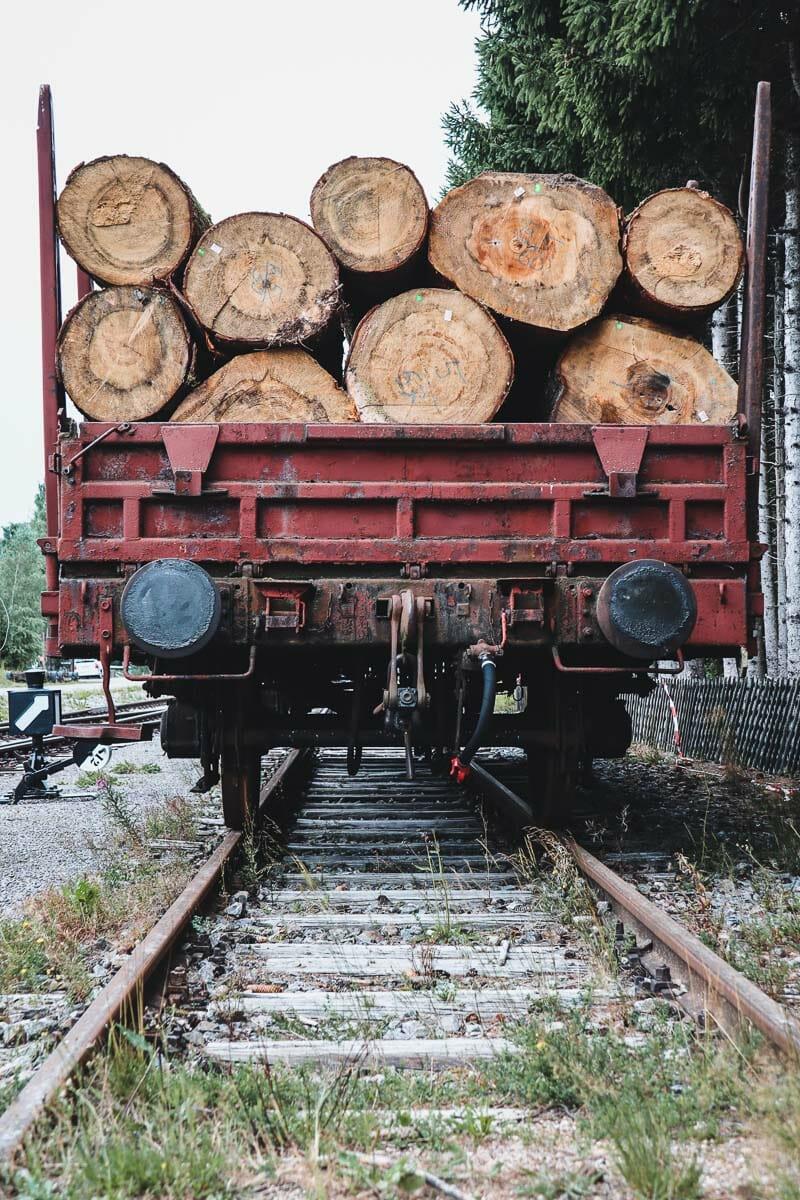 wagnon de bois gare de Seebrugg