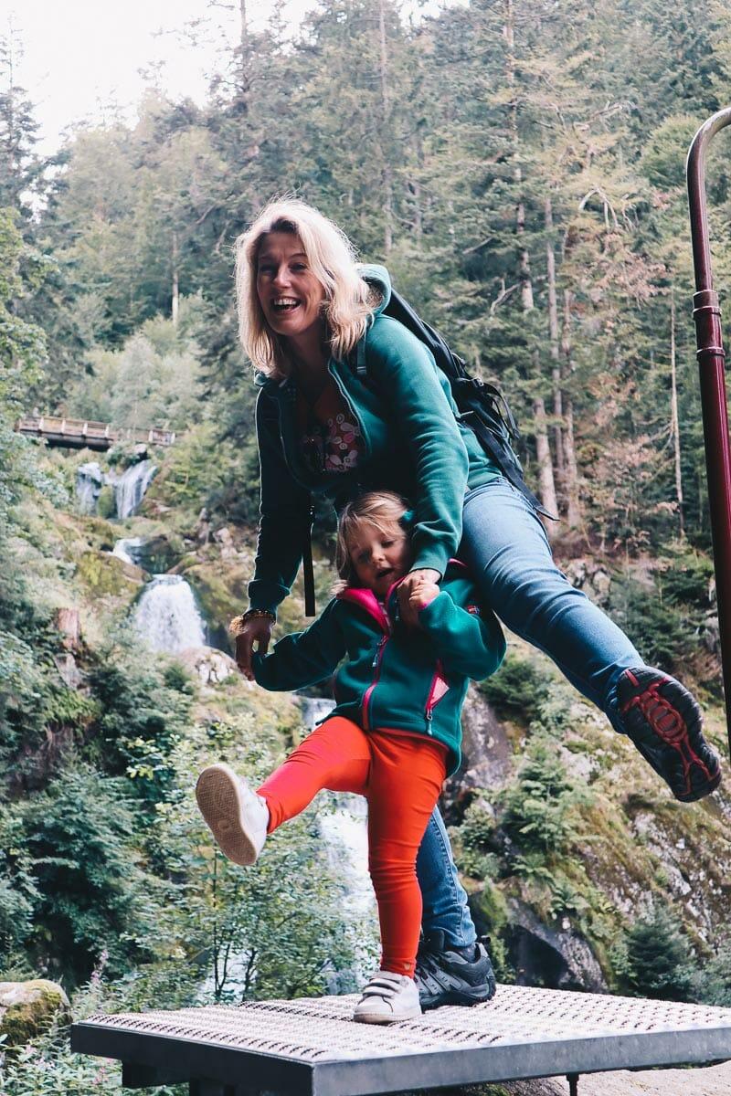 famille les chutes de Triberg