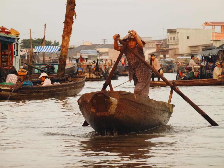 marché flottant delta mekong