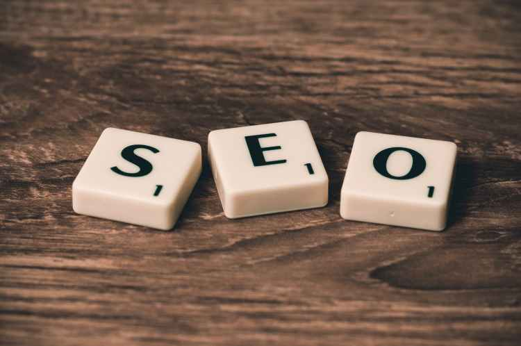 Letter Blocks placed to spell SEO