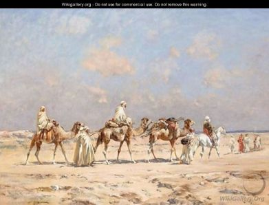 Huguet_A-Caravan-Crossing-The-Desert