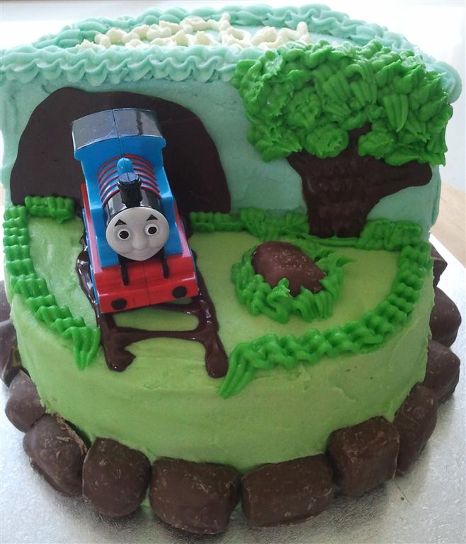 Thomas The Tank Engine Birthday Cake Noshbites