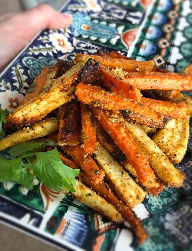 Harissa Carrot & Parsnip Fries