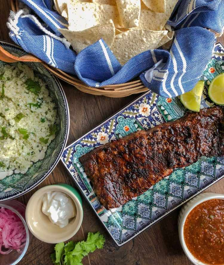 grilled ancho chili spice rubbed skirt steak