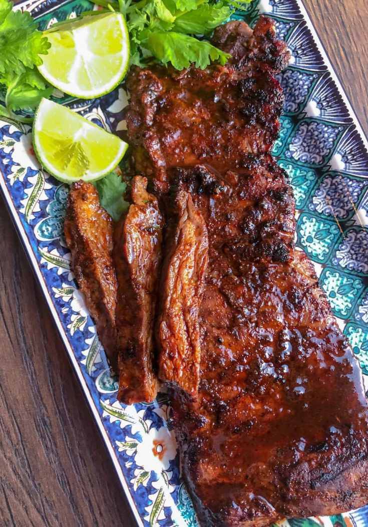 Ancho Chili Spice Rubbed Skirt Steak