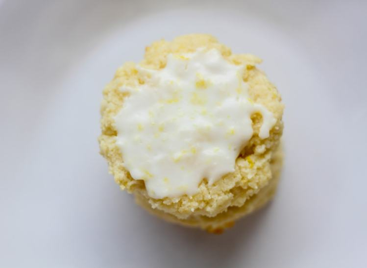 iced low carb lemon ricotta cookie