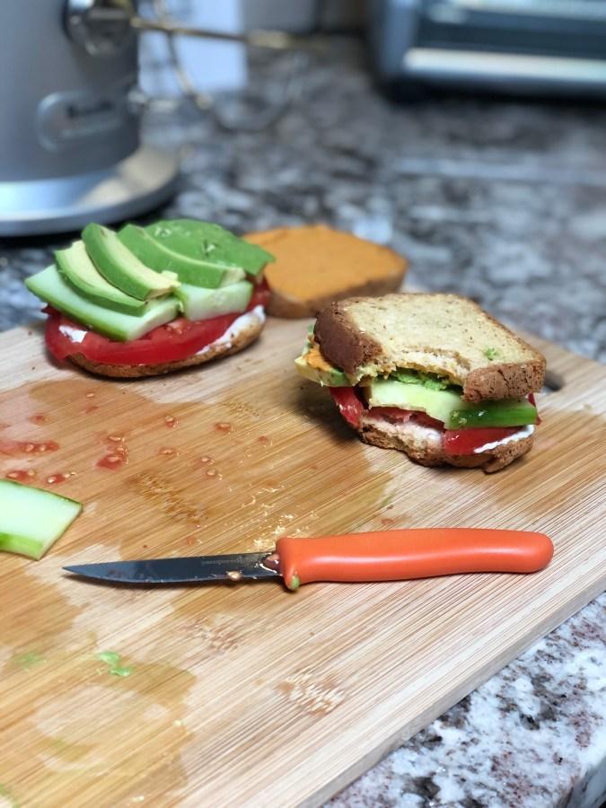 """Summer Veggie """"Quickwich"""" [Gluten-free] [Vegan]"""