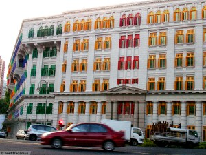Bright colours of Singapore Buildings
