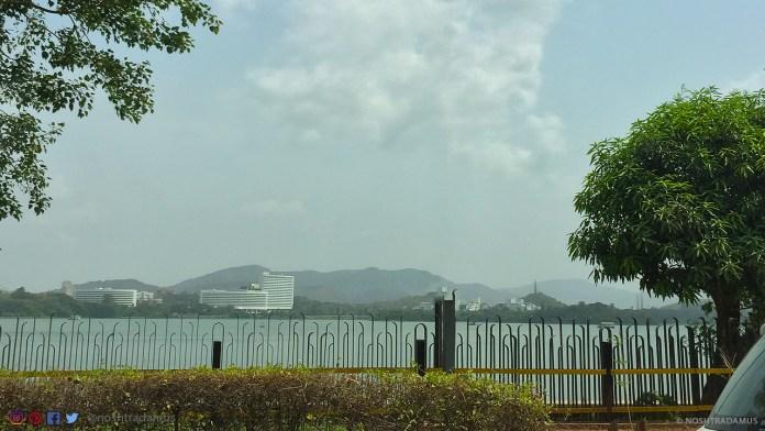 The refreshed and beautiful Powai Lake in Mumbai