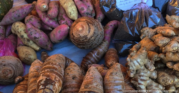Local produce, at a farmers market in Shillong