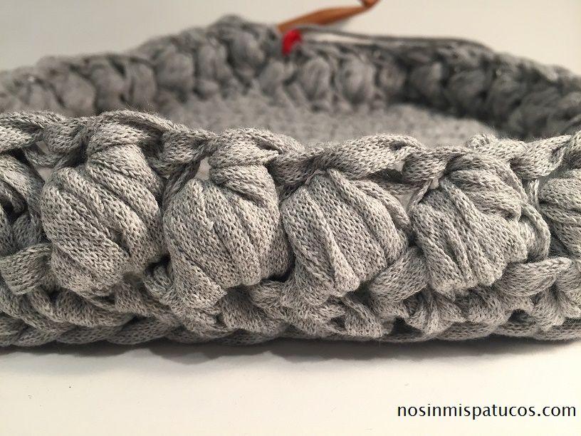 punto puff en crochet