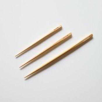 Agujas laneras de bambú.