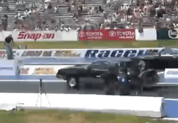 Decent G Body drag racing