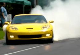 Smoking Vette tires