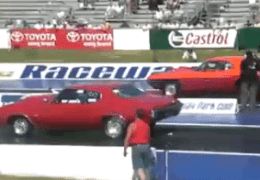 Challenger racing Chevelle