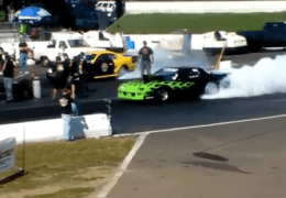 Ford vs Chevy classic Drag Race