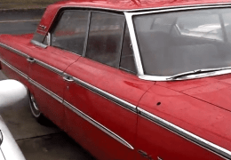 Clean older 4 door sedan Ford Galaxie