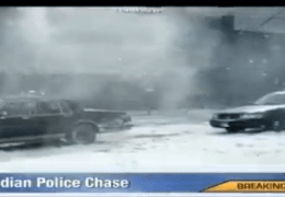 Police Chase in Snow