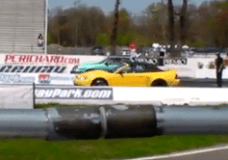 Mustangs drag racing