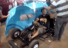 No it is not full size, it is custom go kart for kids