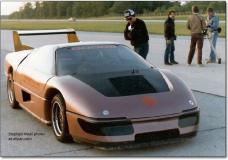 "Front view of the M45 Dodge Pace car that made it to the movies as ""The Wraith"""
