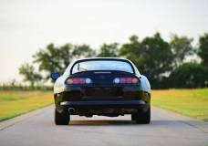Super clean rear view of the only under 10,000 mile Supra known