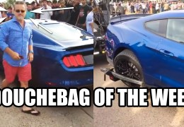 Douchebag Mustang Driver of the Week!