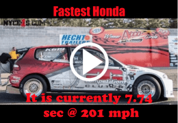 It is currently 7.74 sec and 201 mph