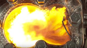 Strange flame front