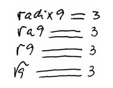 simbolo-raiz-quadrada