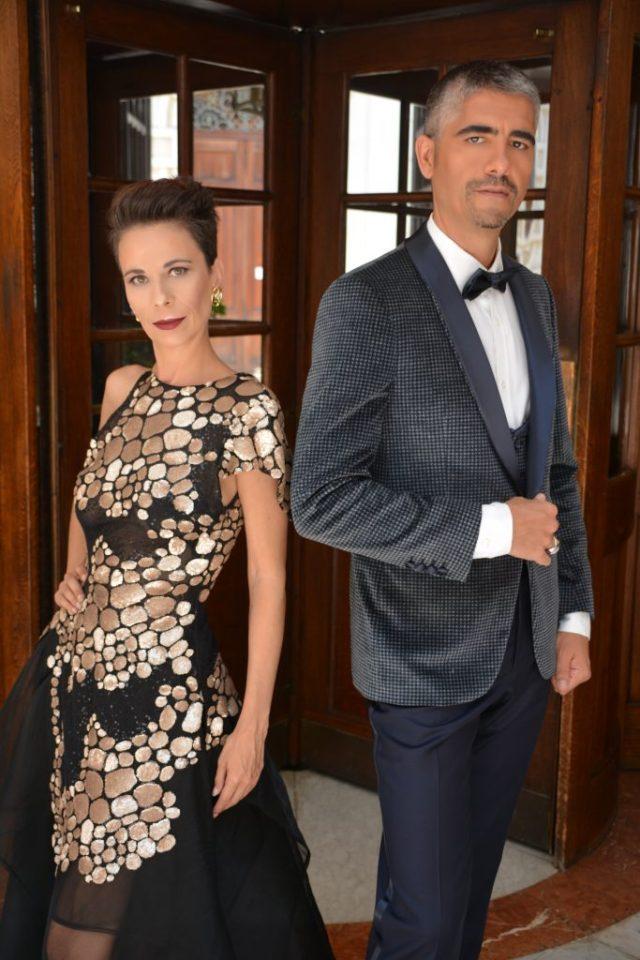 Conchy & Richard vestidos por Pedro Palmas y Néstor Rodríguez