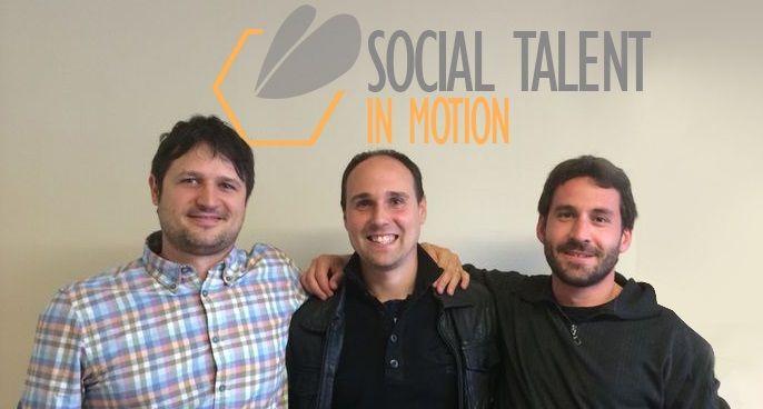 Julien Schmitt, Daniel Muigg y Jordi Díaz,  cofundadores de Social Talent In Motion
