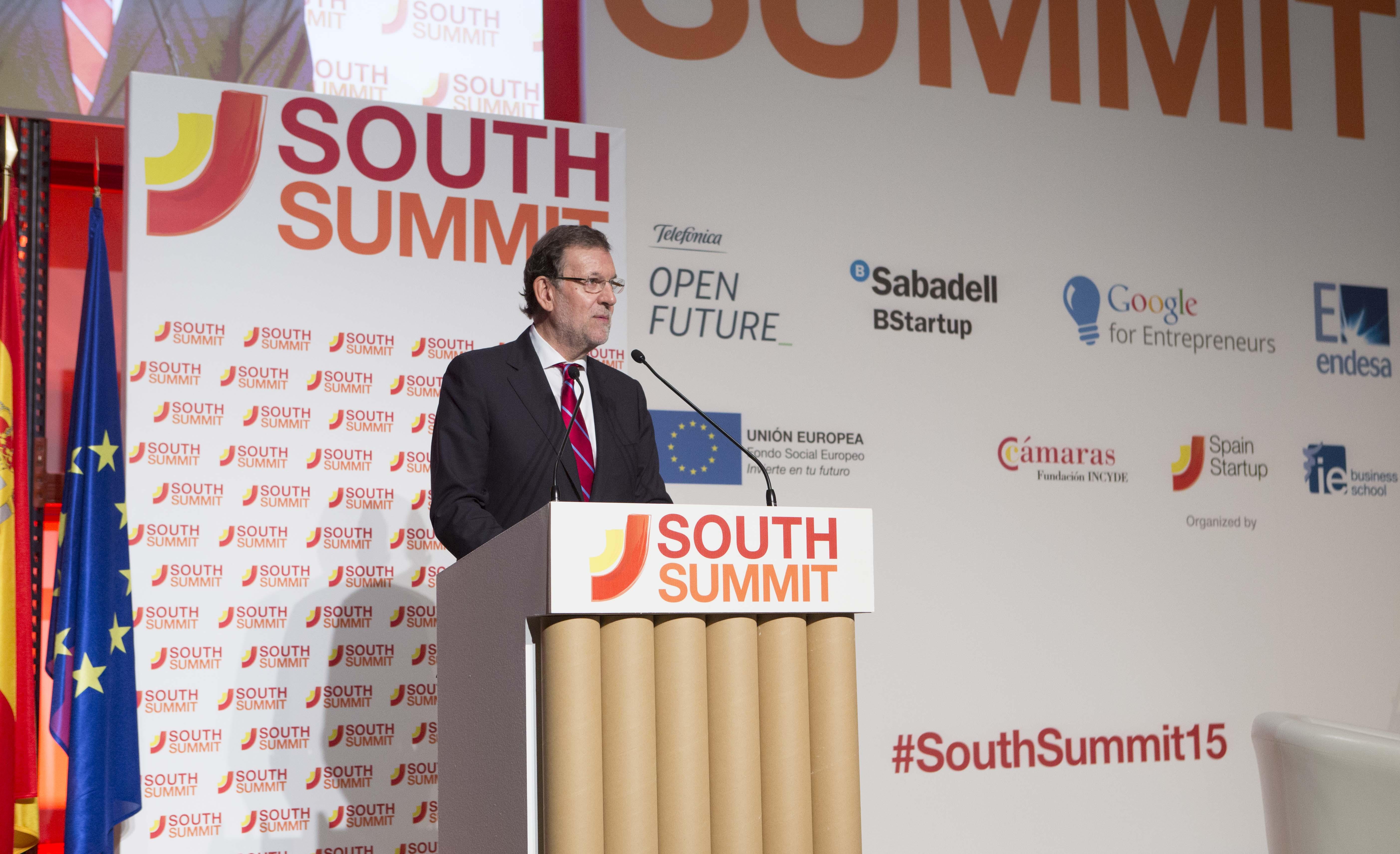 Mariano Rajoy, presidente del gobierno, durante su intervención en South Summit