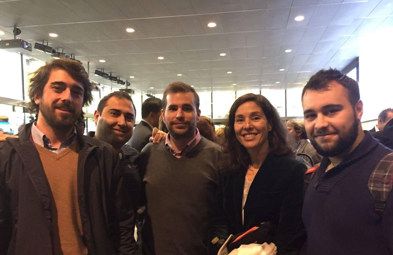 Parte del equipo de Velvethut en el encuentro Impulsando Pymes. De izquierda a derecha: Manuel Franganillo, Jaime Martín, Santiago Redondo, Rosa Martín y Miguel Rodríguez.