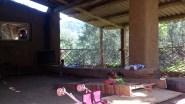 barandilla porche de bambu