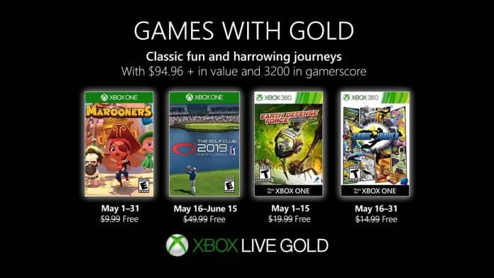 Conoce los juegos de Games with Gold del mes de mayo 1