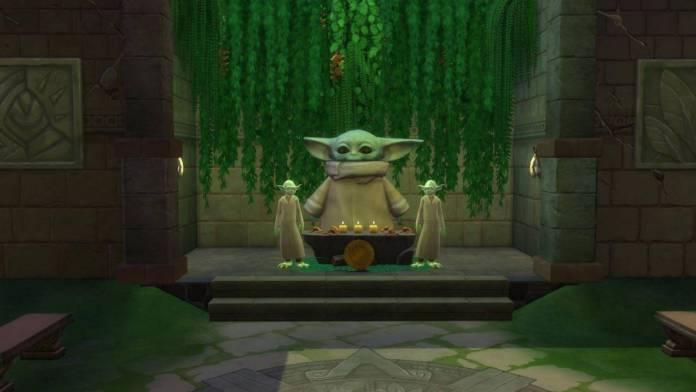 The Sims 4: Jugadores crean culto a 'Baby Yoda' 1