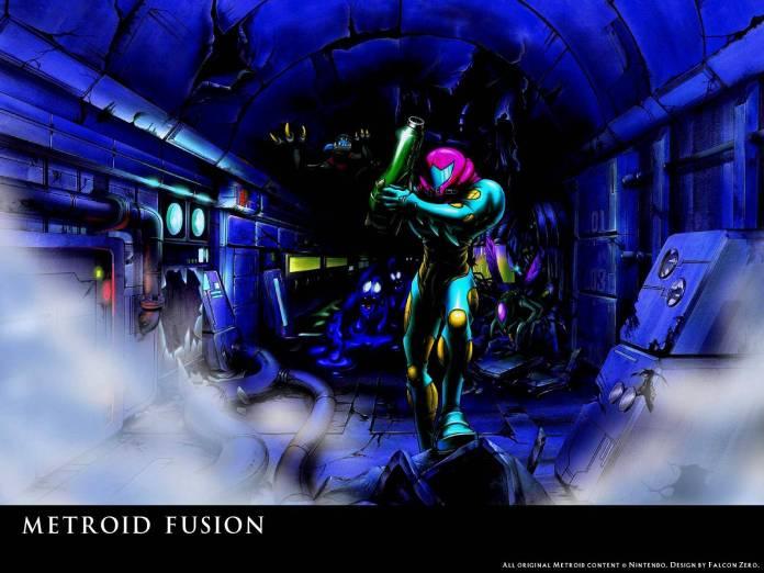 Metroid Fusion en Minecraft (Póster)
