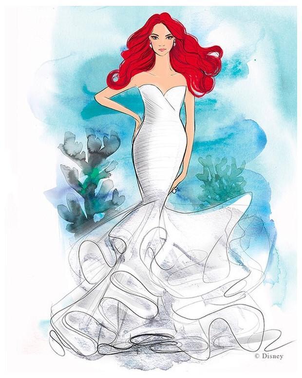 Disney lanzará línea de vestidos para novia inspirados en sus princesas 2