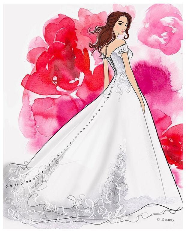 Disney lanzará línea de vestidos para novia inspirados en sus princesas 4